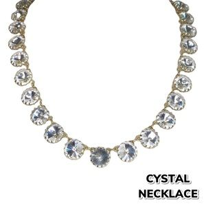 Costume Crystal Faux Gold Necklace